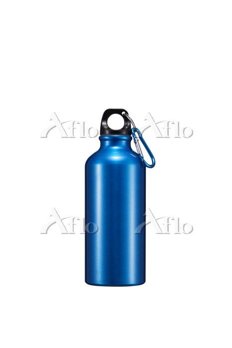 青色のステンレスボトル