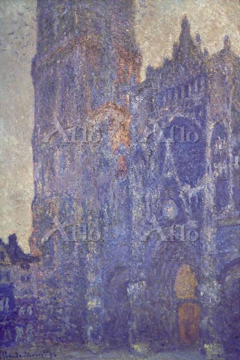 クロード・モネ 「ルーアン大聖堂 扉口とサン=ロマン塔、朝の・・・