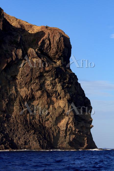 東京都 小笠原 父島 天ノ浦の断崖の枕状溶岩