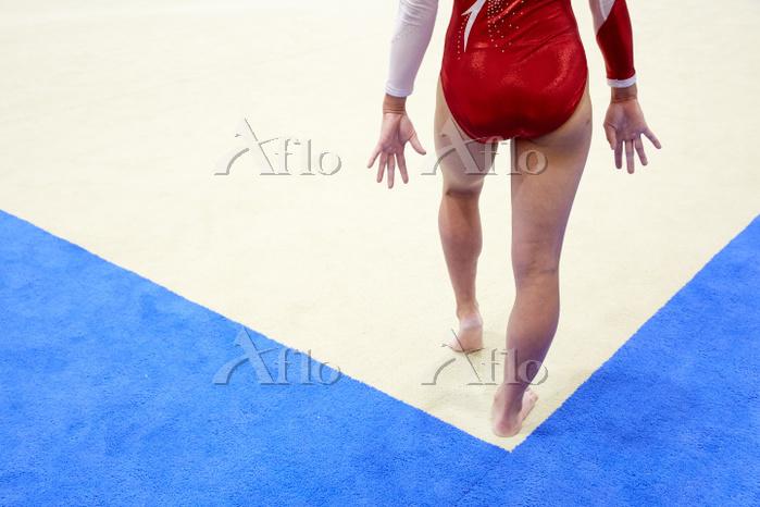 女子体操選手 ゆか