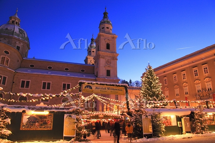 オーストリア クリスマスのザルツブルク