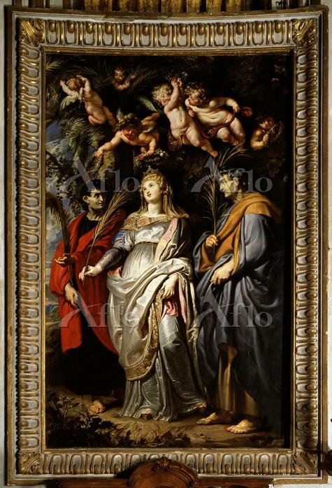 ピーテル・パウル・ルーベンス「聖ドミティラとネロ、アキレス」