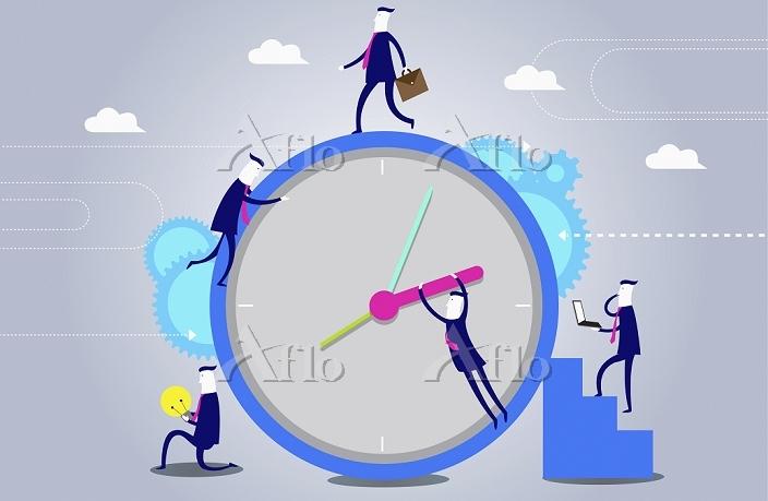 illustration of men operating ・・・