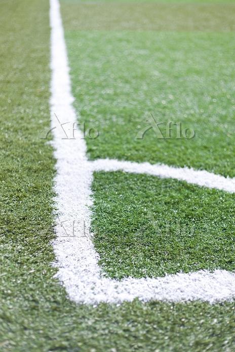 サッカー練習場の白線ライン