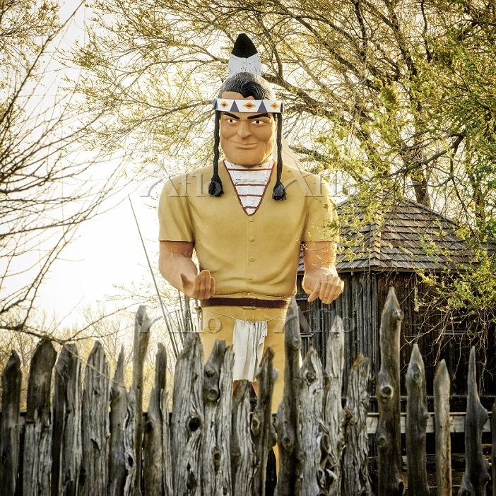 Native Muffler Man Statue