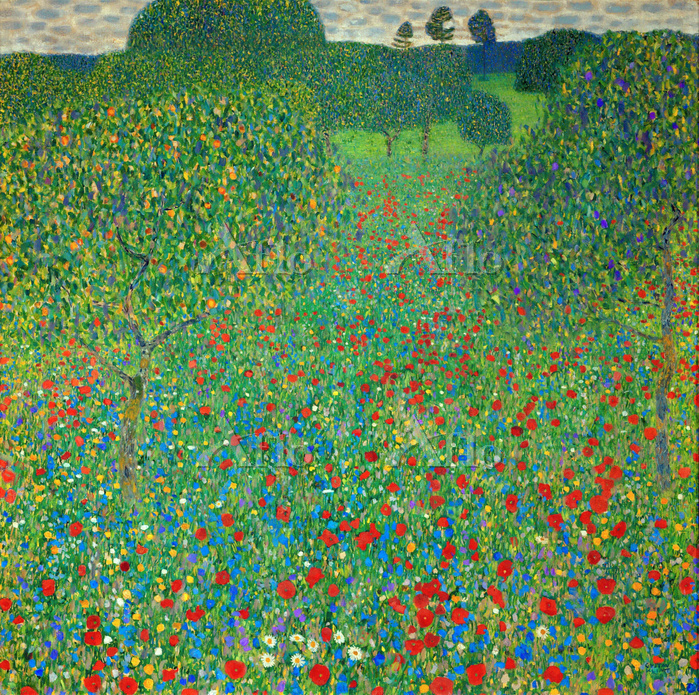クリムト 「けしの咲く野」