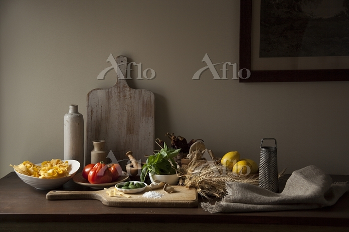 Rustic italian ingredients on ・・・