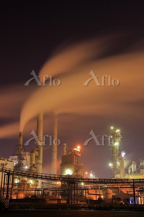 宮城県 日本製紙石巻工場の工場夜景