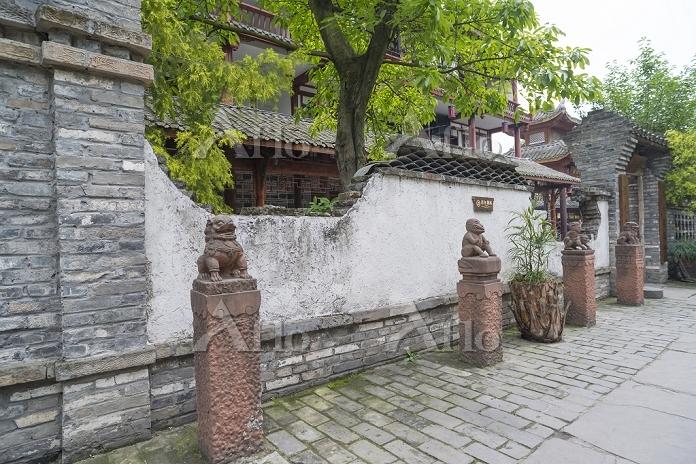 中国 四川省 黄龍渓古鎮