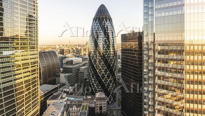 London buildings.