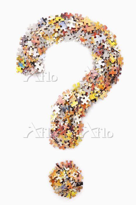 Puzzles form question mark