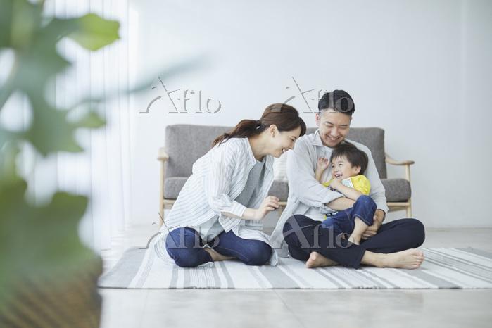 家族日本人三人家族