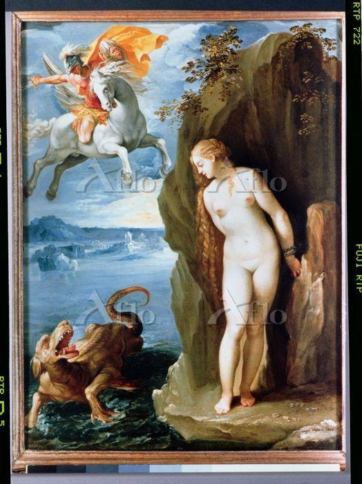 「アンドロメダを救うペルセウス」
