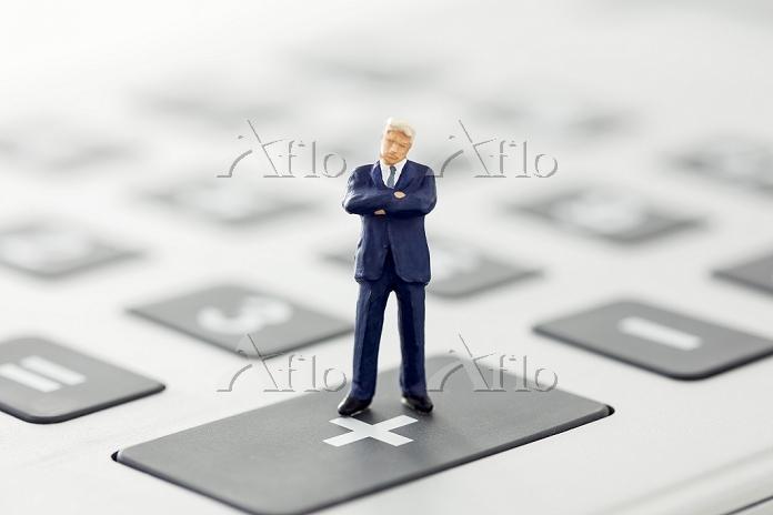 Businessman figurine standing ・・・