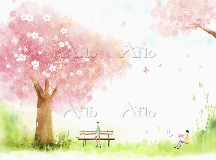 illustration of a relaxing lan・・・