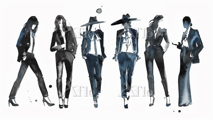 Watercolour fashion illustrati・・・