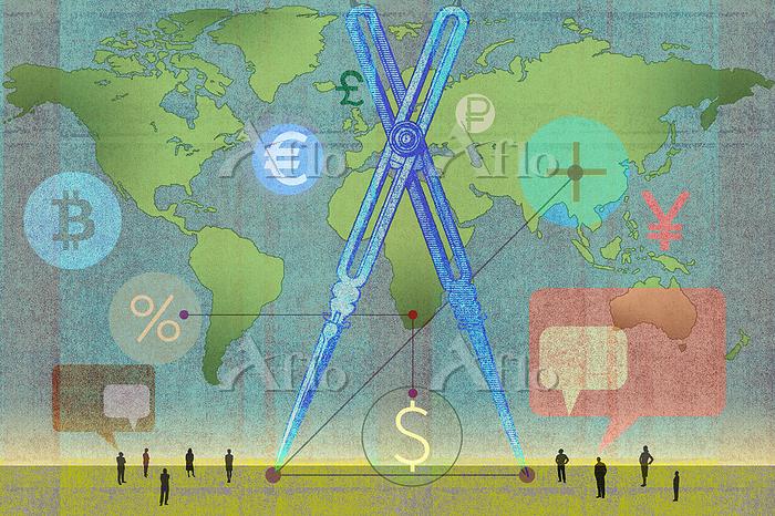 People discussing global finan・・・