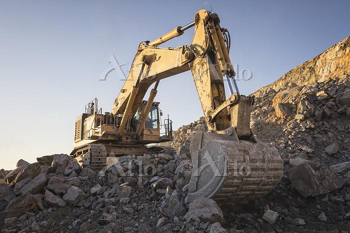 Mining machinery working over ・・・