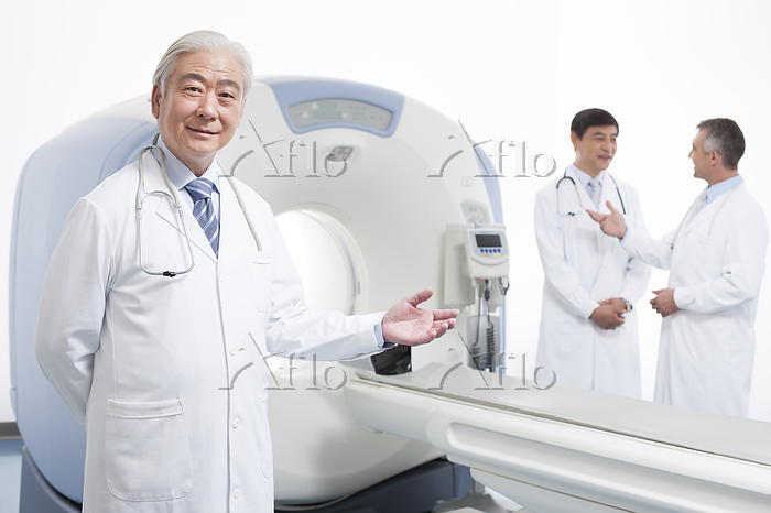 Doctors in CT room