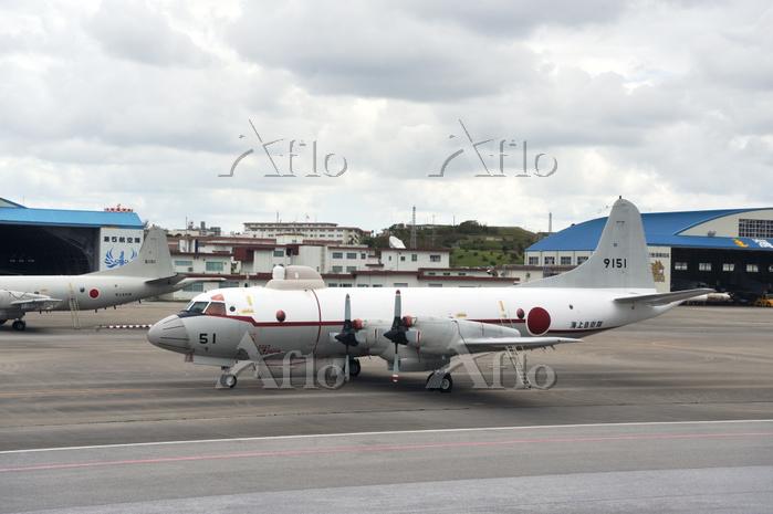 沖縄県 那覇空港 海上自衛隊のP3C哨戒機