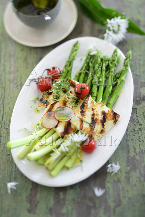 Roasted green asparagus with g・・・