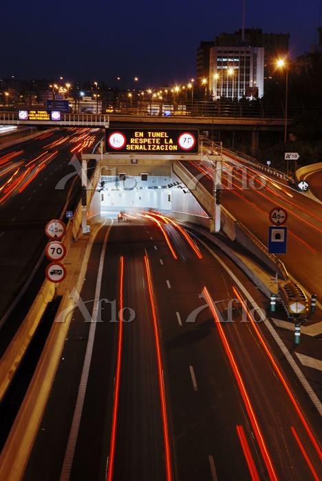 スペイン マドリード M-30線のトンネル