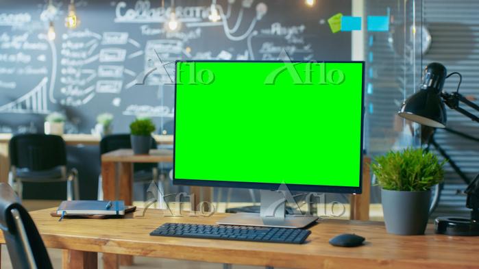 オフィスにあるパソコン