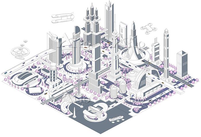 ブロックタウン未来都市 B-all