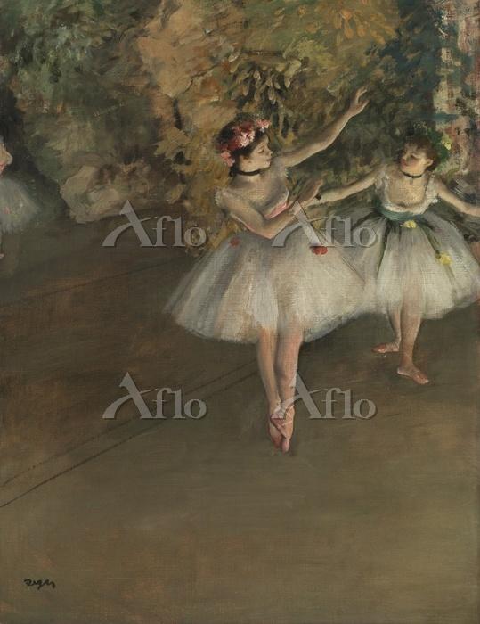 エドガー・ドガ 「舞台上の二人の踊り子」