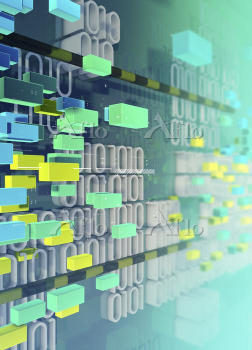 Blocks and binary code data by・・・