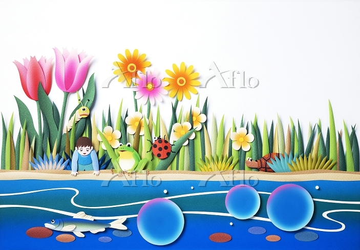 水辺の小さな生物