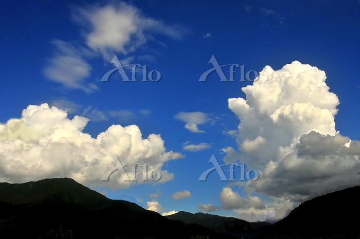 長野県 川上村 入道雲