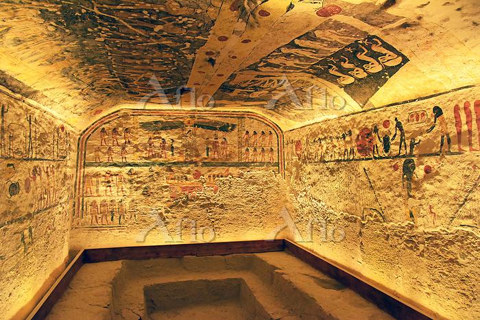 エジプト 王家の谷 ラムセス6世の墓