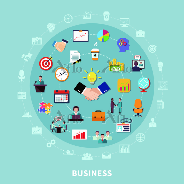 Business Pictograms Round Comp・・・