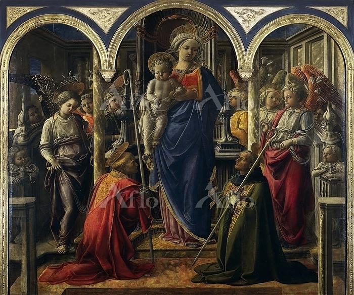 フィリッポ・リッピ 「聖母子と天使と聖人たち」