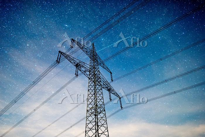 High voltage power line under ・・・