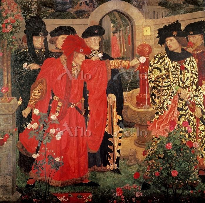 ヘンリー・ペイン 「テンプル・ホールでの赤と白の薔薇選び(第・・・