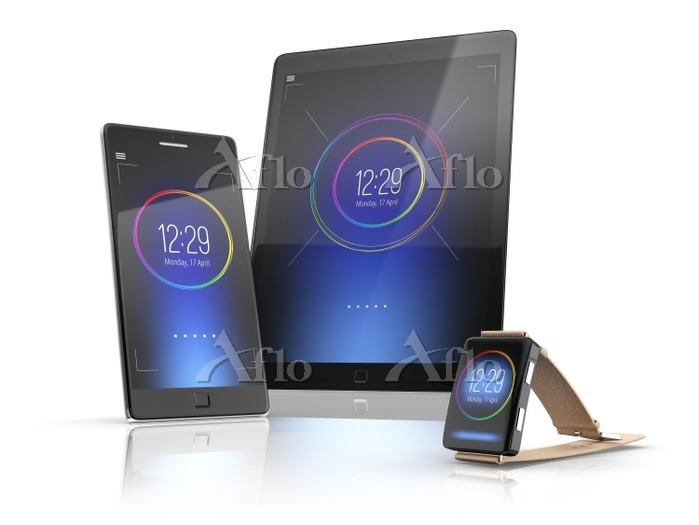 Smartphone, tablet and smartwa・・・