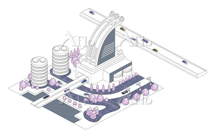 ブロックタウン未来都市 B-6