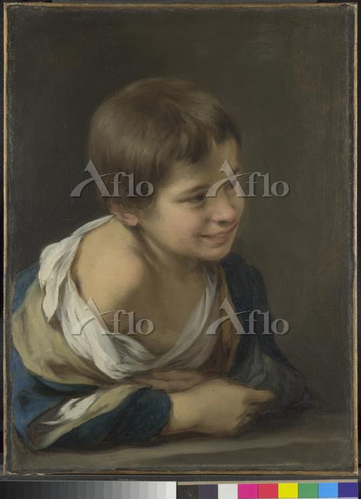 ムリーリョ「窓枠に身を乗り出した農民の少年」