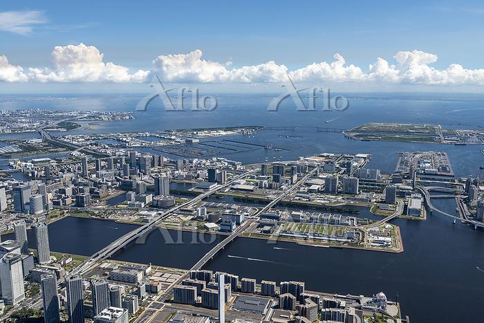東京都江東区 豊洲6丁目周辺の空撮