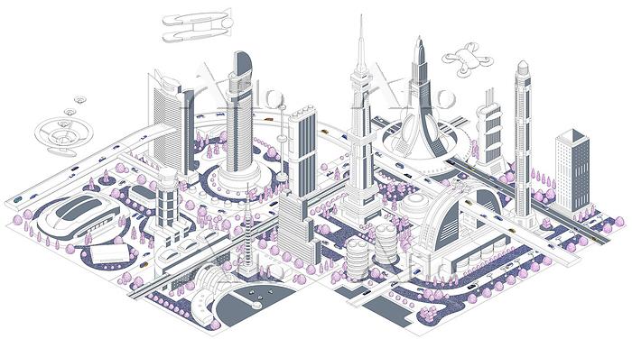 ブロックタウン未来都市 B-2-3-4-5-6-7-8