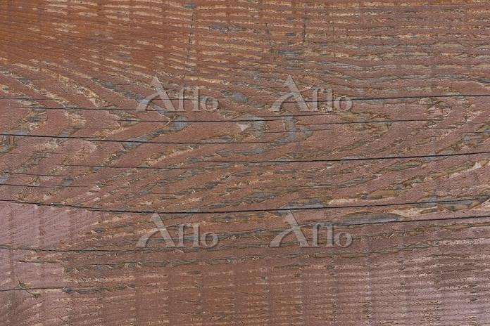 ペンキを塗った古い材木