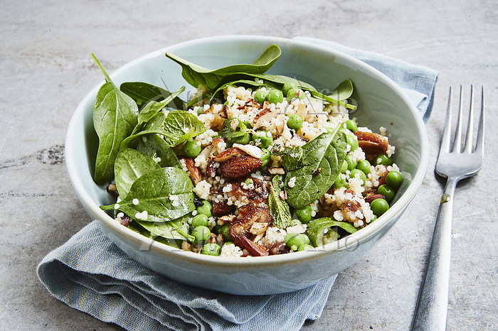 Millet salad with peas and spi・・・