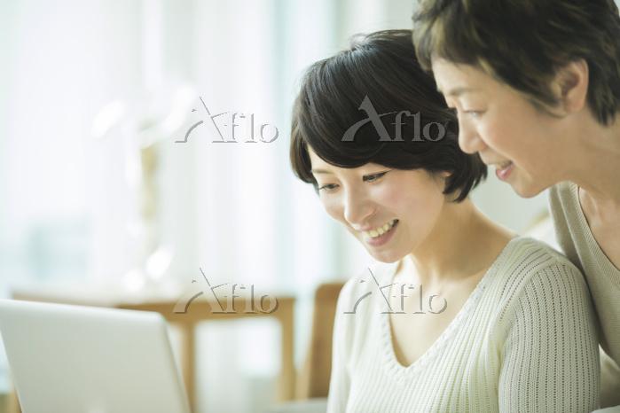 日本人の母親と娘