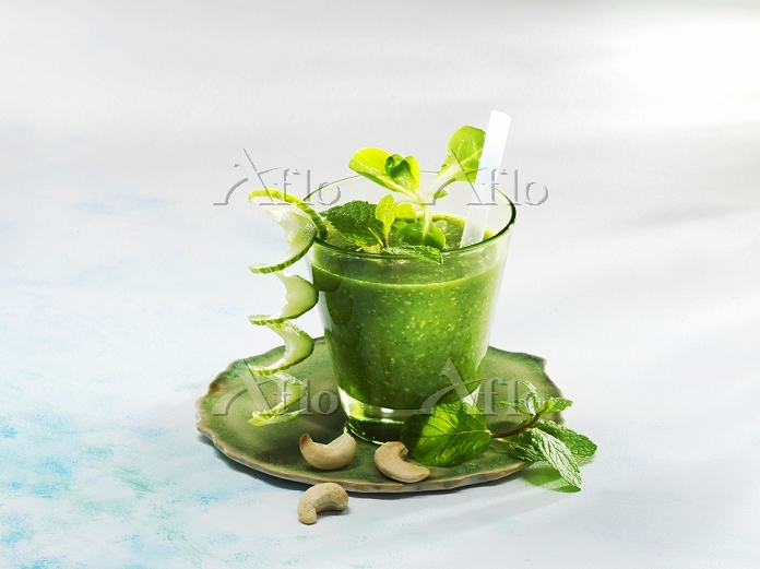 A cucumber and mint smoothies ・・・