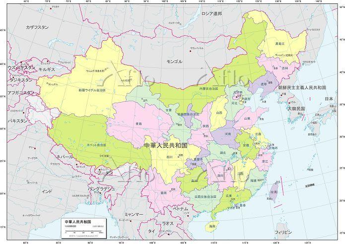 中国 行政区分図