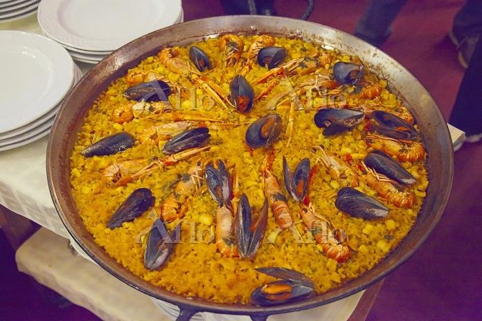 スペイン マドリッド パエリア