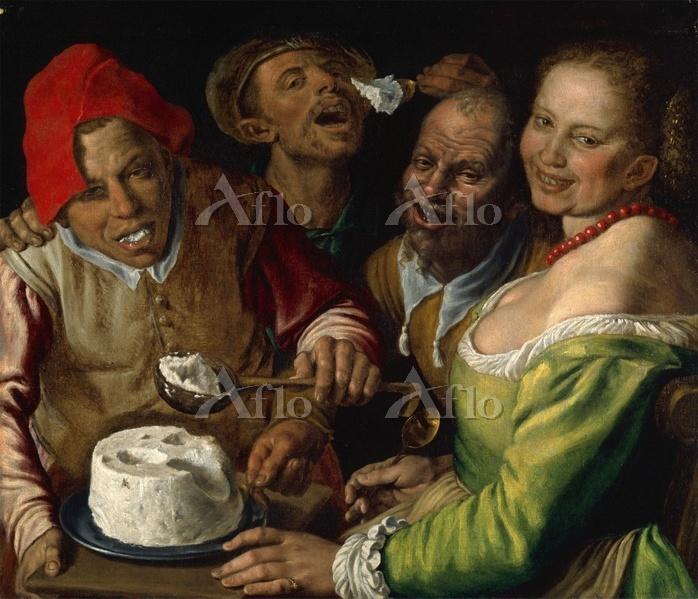 ヴィンチェンツォ・カンピ「リコッタチーズを食べる人々」