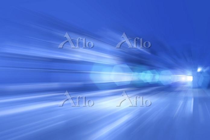 青色の光 CG